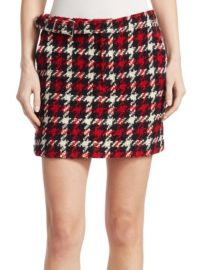 MCQ ALEXANDER MCQUEEN - BELTED WOOL MINI SKIRT at Saks Fifth Avenue