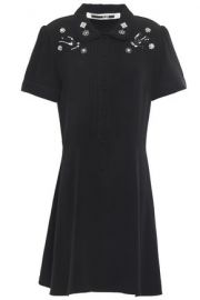 MCQ Alexander McQueen Embellished crepe mini dress at The Outnet