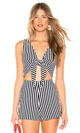 MDS Stripes Clair Tie Tank in Knit Navy Stripe from Revolve com at Revolve