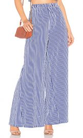 MDS Stripes Pia Palazzo Pant in Cobalt Stripe from Revolve com at Revolve