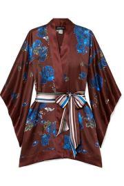 MENG - Floral-print silk-satin kimono at Net A Porter