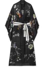 MENG - Floral-print silk-satin robe at Net A Porter