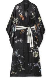 MENG - Floral-print silk-satin robe at Net A Porter