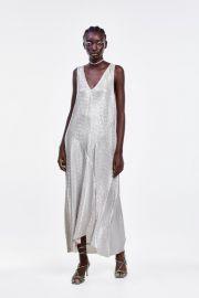 METALLIC WRINKLE LOOK DRESS at Zara