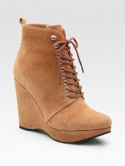 MICHAEL MICHAEL KORS - Jada Sport Suede Ankle Boots at Saks Fifth Avenue