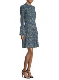 MICHAEL MICHAEL KORS - Smocked Sleeve Shirt Dress at Saks Fifth Avenue