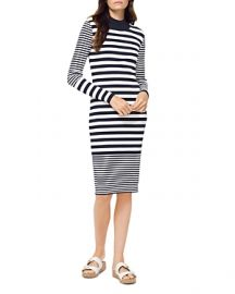 MICHAEL MICHAEL KORS MIXED-STRIPE MOCK-NECK DRESS at Bloomingdales