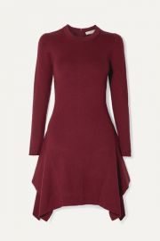 MICHAEL Michael Kors - Asymmetric ribbed-knit mini dress at Net A Porter
