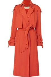 MICHAEL Michael Kors - Belted cady trench coat at Net A Porter