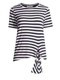 MICHAEL Michael Kors - Jersey Striped Tie-Hem Tee at Saks Fifth Avenue