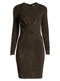 MICHAEL Michael Kors - Lurex Twist Front Bodycon Dress at Saks Fifth Avenue