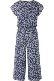 MICHAEL Michael Kors   Pleated floral-print georgette jumpsuit at Net A Porter
