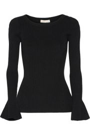 MICHAEL Michael Kors   Ribbed stretch-knit sweater at Net A Porter