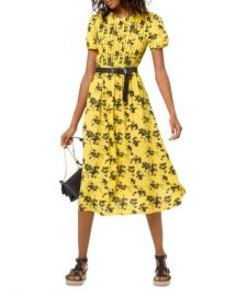 MICHAEL Michael Kors Botanical Pintucked Dress Women - Bloomingdale s at Bloomingdales