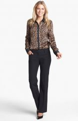 MICHAEL Michael Kors Colorblock Leopard Print Blouse at Nordstrom