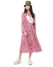 MICHAEL Michael Kors Enchanted Bloom Midi Dress Women - Bloomingdale s at Bloomingdales
