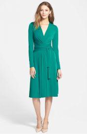 MICHAEL Michael Kors Faux Wrap Jersey Dress at Nordstrom
