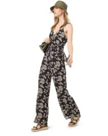 MICHAEL Michael Kors Glam Fleur Cami Jumpsuit Women - Bloomingdale s at Bloomingdales