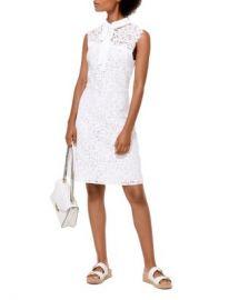MICHAEL Michael Kors Lace Tie-Neck Dress Women - Bloomingdale s at Bloomingdales
