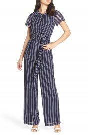 MICHAEL Michael Kors Mega Railroad Stripe Jumpsuit at Nordstrom