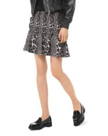 MICHAEL Michael Kors Pleated Leopard Jacquard Mini Skirt Women - Bloomingdale s at Bloomingdales