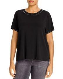MICHAEL Michael Kors Plus Pyramid Studded T-Shirt Women -  Plus - Bloomingdale s at Bloomingdales