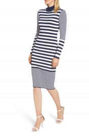 MICHAEL Michael Kors Ribbed Mock Neck Midi Dress at Nordstrom
