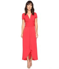 MICHAEL Michael Kors Short Sleeve Maxi Wrap Dress at Amazon