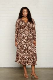 MID-LENGTH HARLOW DRESS - LEOPARD at Rachel Pally