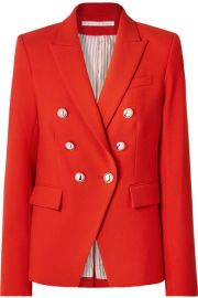 MILLER DICKEY DOUBLE-BREASTED CADY JACKET at Net A Porter