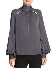 MILLY Simona Tie-Neck Top at Bloomingdales