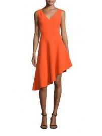 MILLY - Asymmetrical Hem Dress at Saks Fifth Avenue