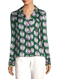 MILLY - FLORAL-PRINT BLOUSE at Saks Off 5th