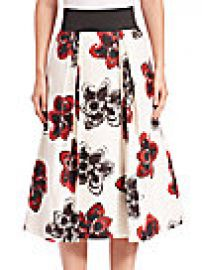 MILLY - Full Floral Skirt at Saks Off 5th