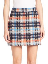 MILLY - Plaid Mini Skirt at Saks Fifth Avenue