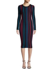 MILLY - STRIPE BODYCON DRESS at Saks Fifth Avenue