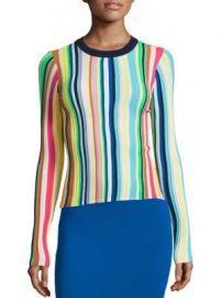 MILLY - Vertical Striped Rainbow Pullover at Saks Fifth Avenue