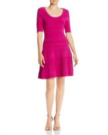 MILLY Mixed-Knit Fit and Flare Dress Women - Bloomingdale s at Bloomingdales