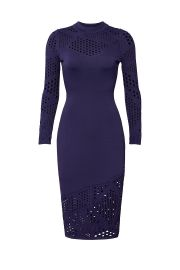 MILLY NAVY LASERCUT SHEATH at Rent The Runway