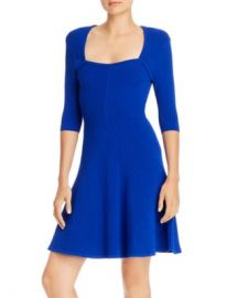 MILLY Ribbed Fit and Flare Dress Women - Bloomingdale s at Bloomingdales