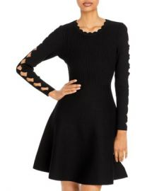 MILLY Scalloped Fit And Flare Dress Women - Bloomingdale s at Bloomingdales