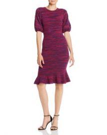 MILLY Space-Dye Puff-Sleeve Dress Women - Bloomingdale s at Bloomingdales
