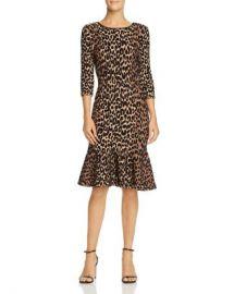 MILLY Textured Leopard-Print Dress Women - Bloomingdale s at Bloomingdales