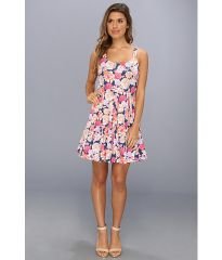 MINKPINK Floral Frenzy Box Pleat Dress Multi at 6pm
