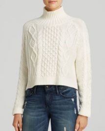 MINKPINK Sweater - Crop Cable at Bloomingdales
