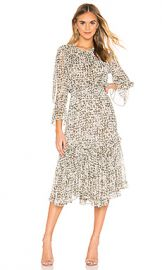 MISA Los Angeles Laia Dress in Green Floral from Revolve com at Revolve