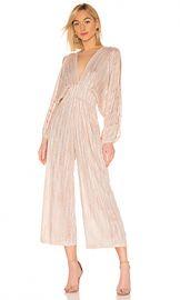 MISA Los Angeles Zoza Jumpsuit in Blush Stripe from Revolve com at Revolve