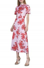 ML Monique Lhuillier Floral Satin Dress   Nordstrom at Nordstrom