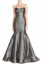 ML Monique Lhuillier Strapless Metallic Mermaid Gown at Nordstrom