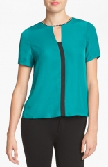 MM Couture Embellished Colorblock Top at Nordstrom